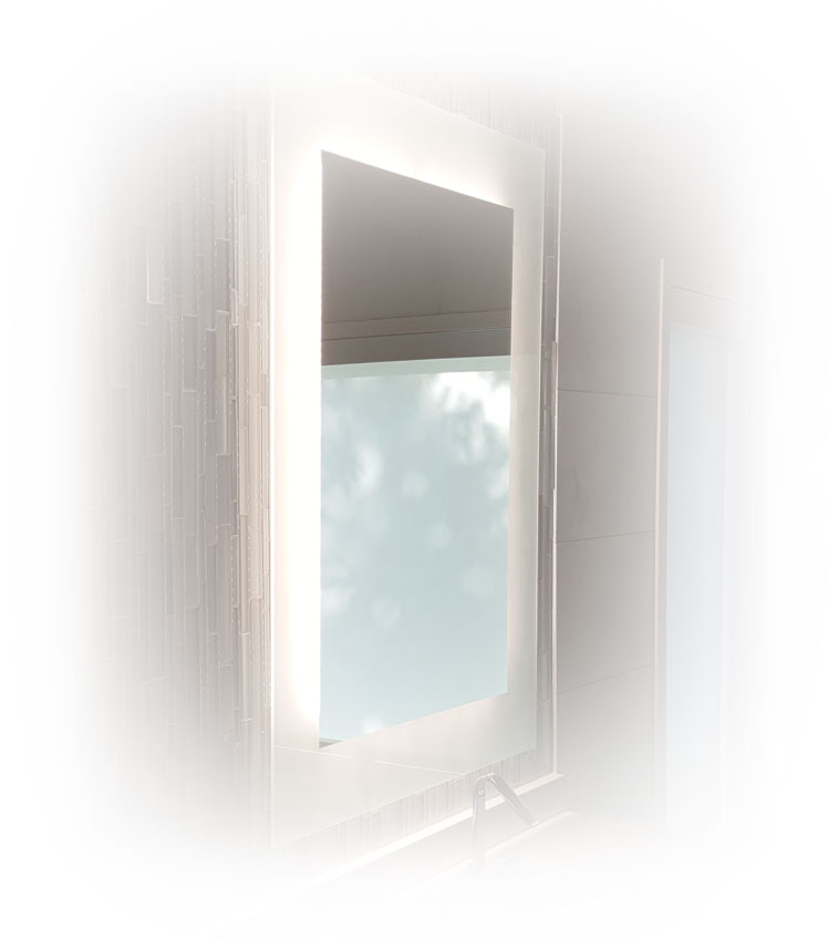 Clear glass window with foggy border.